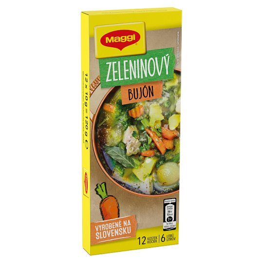 MAGGI Vegetable Broth in Cube 6 L 12 x 10 g