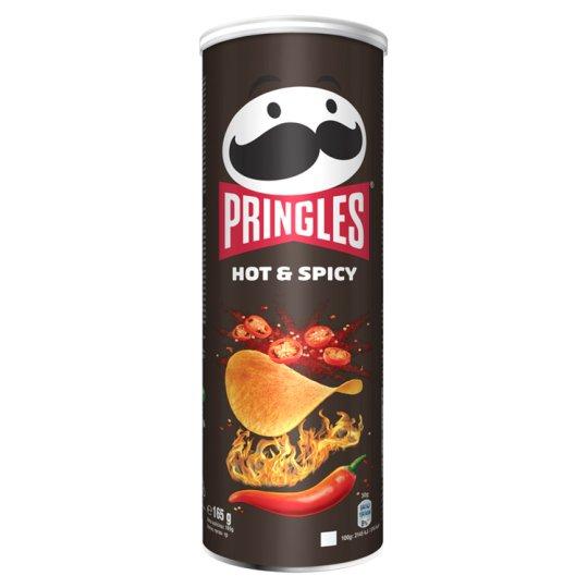 Pringles Hot & Spicy ostrý pikantný chrumkavý snack 165 g