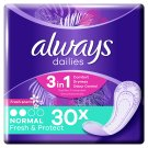 Always Dailies Fresh & Protect Panty Liners Normal Fresh 30 X