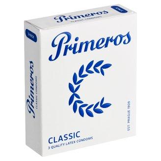 Primeros Classic kondómy s rozšíreným anatomickým tvarom a sviežou vôňou, 3 ks