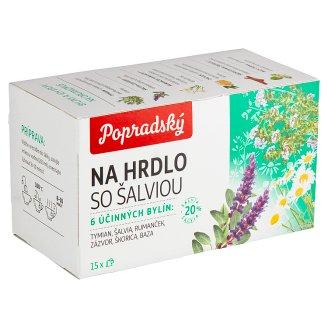 Popradský On Throat with Sage Herbal Tea 15 x 1.5 g