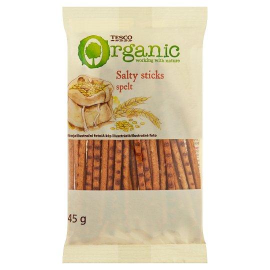 Tesco Organic Špaldové praclíky solené 100 g