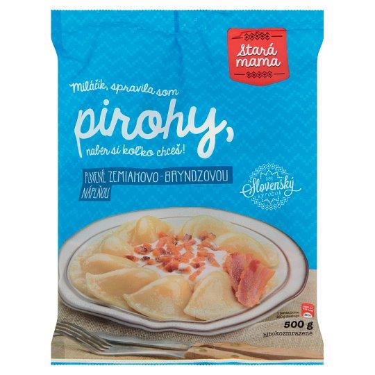 Stará Mama Pirohy plnené zemiakovo - bryndzovou náplňou hlbokozmrazené 500 g