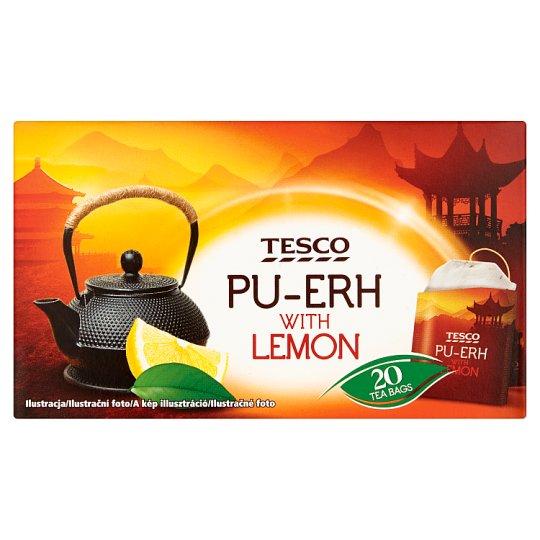 Tesco Pu-Erh čaj s citrónovou príchuťou porciovaný 20 x 1,7 g