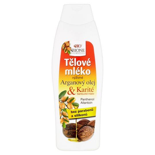 Bione Cosmetics Bio Arganový olej + Karité výživné telové mlieko 500 ml