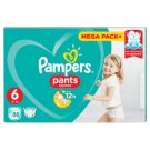 Pampers Pants Size 6, 88 Nappies, 15+ kg, Absorbing Channels