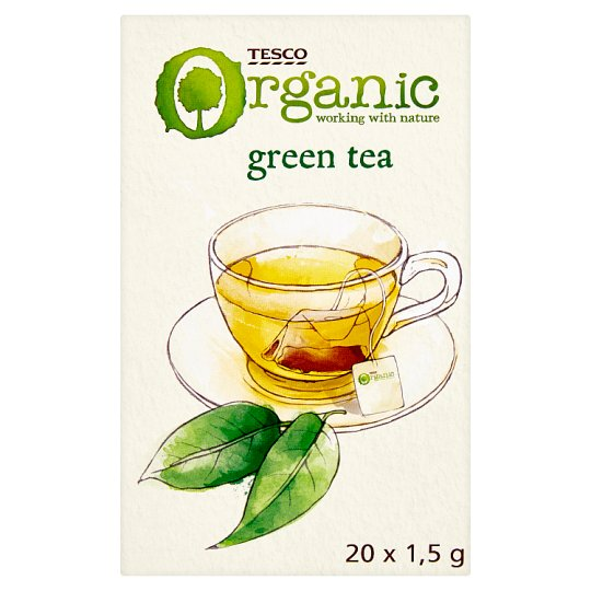 Tesco Organic Bio Green Tea 20 x 1.5 g
