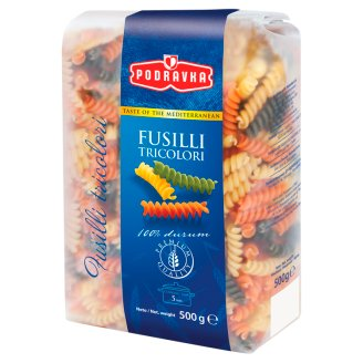Podravka Fusilli Tricolor Semolina Pasta 500 g