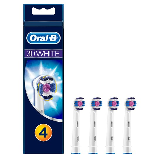 Oral-B 3DWhite Replacement Power Toothbrush Heads 4 counts