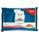 GOURMET Perle Multipack - Mini Fillet in Juice with Vegetables 4 x 85 g