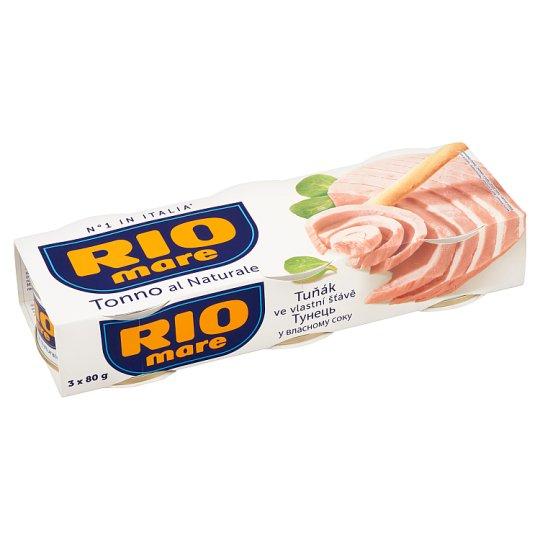 Rio Mare Tuna in Own Juice 3 x 80 g