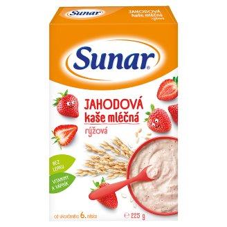 Sunárek Jahodová kašička mliečna ryžová 225 g