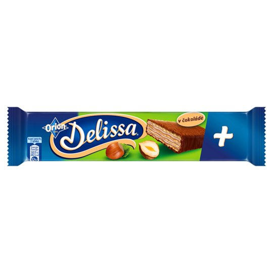 ORION Delissa Plus Wafer with Hazelnut Filling Dipped in Milk Chocolate 44 g