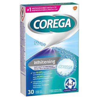 Corega Whitening čistiace tablety na zubné náhrady 30 tabliet