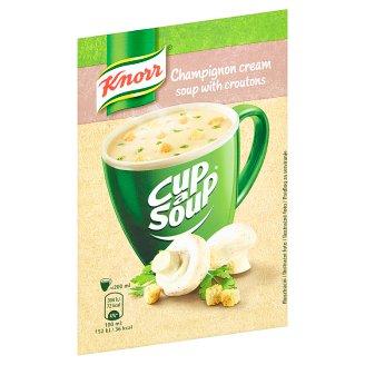 Knorr Cup a Soup Šampiňónová krémová instantná polievka s krutónmi 15 g