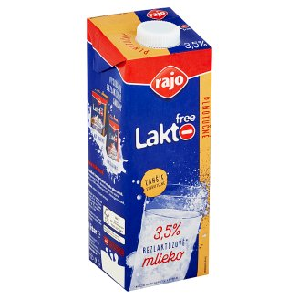 Rajo Lakto Free Bezlaktózové mlieko plnotučné 3,5% 1 l