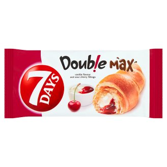 7 Days Double Max Croissant with Vanilla Flavour and Sour Cherry Fillings 80 g