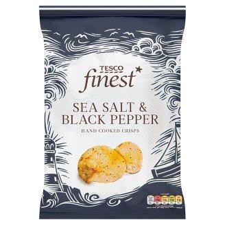 Tesco Finest Sea Salt & Black Pepper Hand Cooked Potato Crisps 150 g