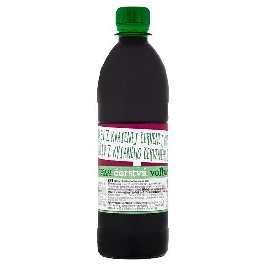 Tesco Čerstvá voľba nálev z kvasenej červenej kapusty 500 ml