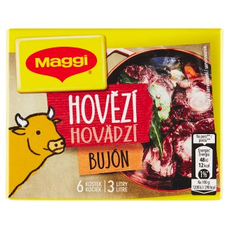 MAGGI Beef Broth in Cube 3 L 6 x 10 g