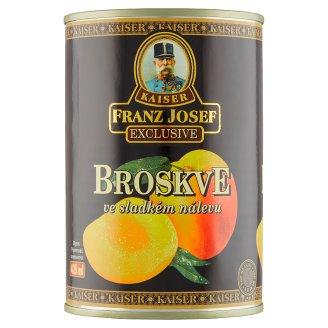 Kaiser Franz Josef Exclusive Broskyne lúpané polené v sladkom náleve 410 g