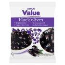 Tesco Value Stoneless Black Olives 200 g