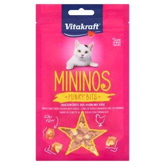 Vitakraft Mininos Punky Bits lahodné kocky z kuracieho mäsa so syrom 40 g