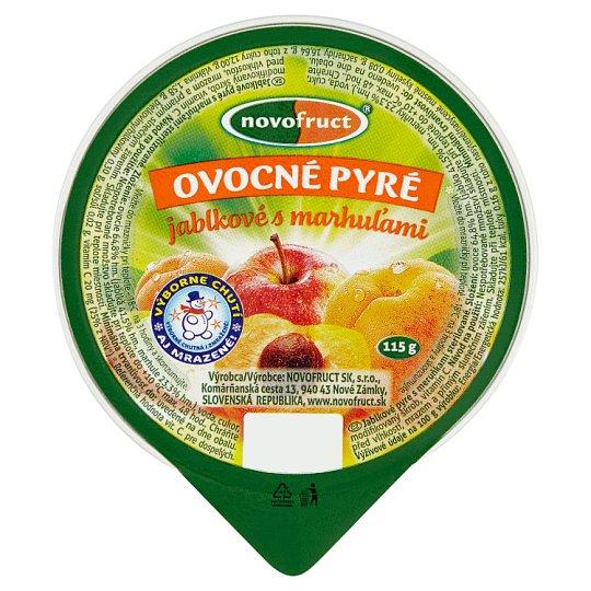 Novofruct Ovocné pyré jablkové s marhuľami 115 g