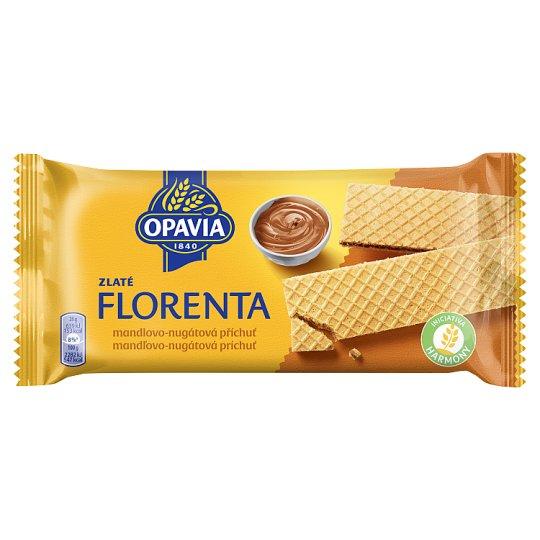 Opavia Zlaté Florenta oblátky s mandľovo-nugátovou príchuťou 112 g