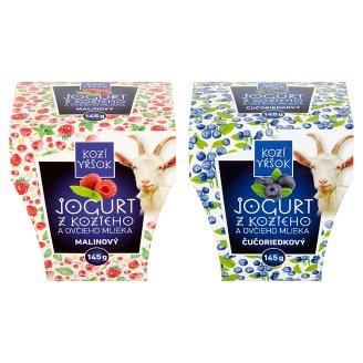 Kozí Vŕšok Jogurt z kozieho a ovčieho mlieka 145 g rôzne príchute