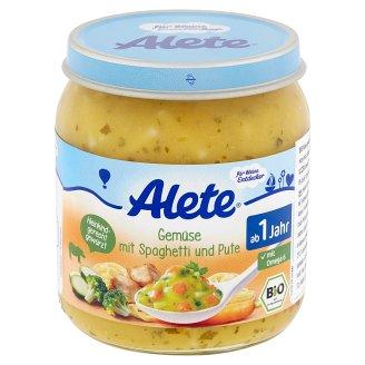 Alete Bio zelenina so špagetami a morčacím mäsom 250 g
