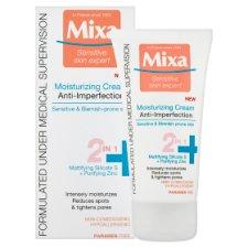 image 2 of Mixa Sensitive Skin Expert Moisturizing Cream 2in1 50 ml