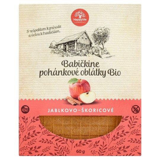 Happylife Grandma's Organic Buckwheat Apple-Cinnamon Wafers 60 g
