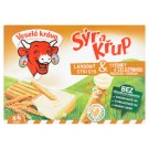 Veselá Kráva Sýr a Křup Cream Cheese and Wholemeal Biscuit 4 x 35 g