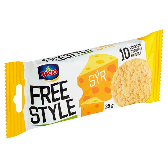 Racio Free Style Rice Bread with Cheese Flavour 25 g