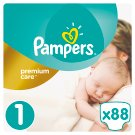Pampers Premium Care Size 1 (Newborn) 2-5kg, 88 nappies