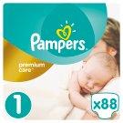 Pampers Premium Care Detské Jednorazové Plienky, Veľkosť 1 (Newborn) 2 – 5 kg, 88 Kusov