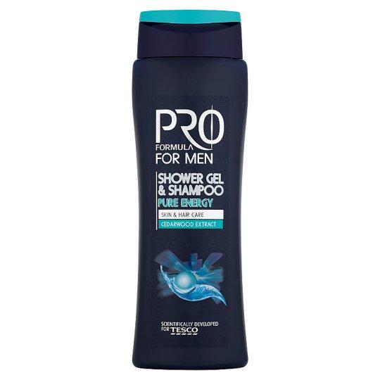 Tesco Pro Formula For men pure energy sprchový gél a šampón 400 ml