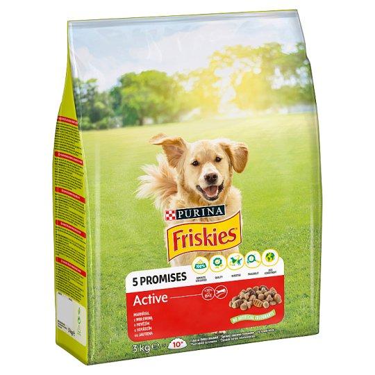 Friskies pre dospelých aktívnych psov VitaFit Active s hovädzím 3 kg