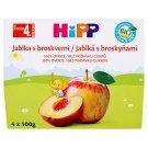 HiPP Jablká s broskyňami 4 x 100 g
