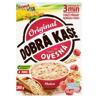 Bona Vita Dobrá kaše Original ovsená kaša malina 4 x 65 g