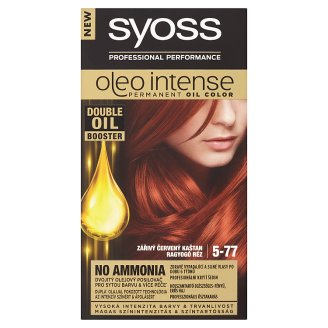 Syoss Oleo Intense Hair Colour Brilliant Red Chestnut 5-77