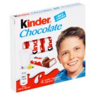 Kinder Chocolate Milk Chocolate Bars with Milk Filling 4 x 12.5 g