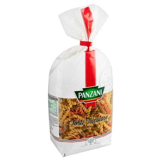 Panzani Torti Tricolore Semolina Pasta Flavoured with Tomatoes and Spinach 500 g