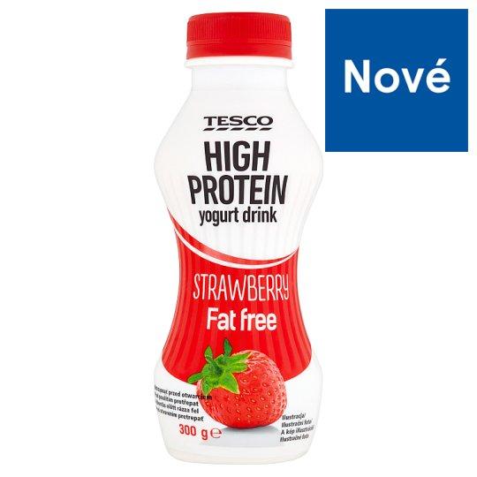 Tesco High Protein Yogurt Drink Strawberry Fat Free 300 g