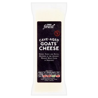 Tesco Finest Cave-Aged Half-Fat Hard Cheese from Goat Milk 190 g