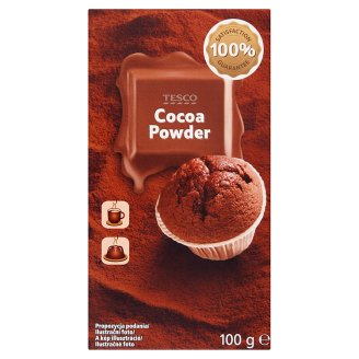 Tesco Cocoa Powder with Reduced Fat 100 g