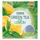 Tesco Aromatizovaný zelený čaj s citrónovou kôrou a citrónovou trávou porciovaný 20 x 2 g