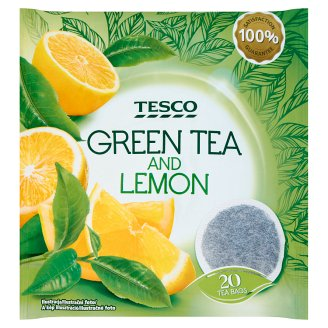 Tesco Green Tea and Lemon 20 x 2 g