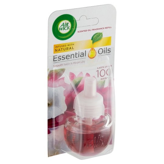 Air Wick Essential Oils Liquid Electrical Plug In Refill Smooth Satin & Moon Lilly 19 ml